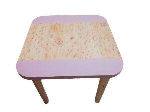 Square Table Medium Pink