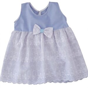 Baby Girl Denim and Lace Dress
