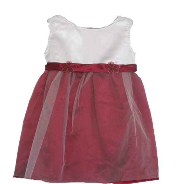 Maroon and white dress
