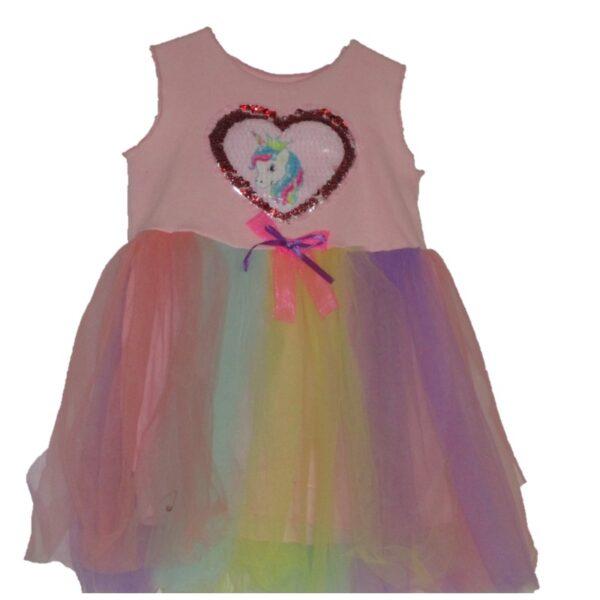 Girls Pink Unicorn Tutu Dress